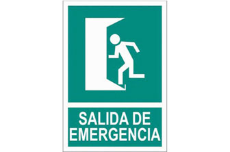 CF-  Señal salida de emergencia 210x148 mm