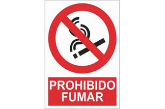 CF-  Señal prohibido fumar 210x148