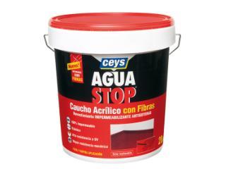 CEYS-  Aguastop caucho acrílico con fibras terracota 20kg