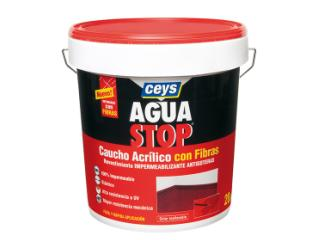 CEYS-  Aguastop caucho acrílico con fibras blanco 20kg