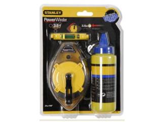 STANLEY-  Tiralineas Kit power 30m + polvo + nivel de cordel