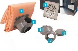 REVESTECH -  Acquafácil Kit impermeabilización de ducha de obra
